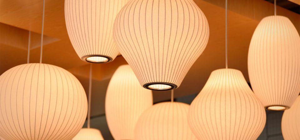 Lichtkonzept mit Designer-Leuchten